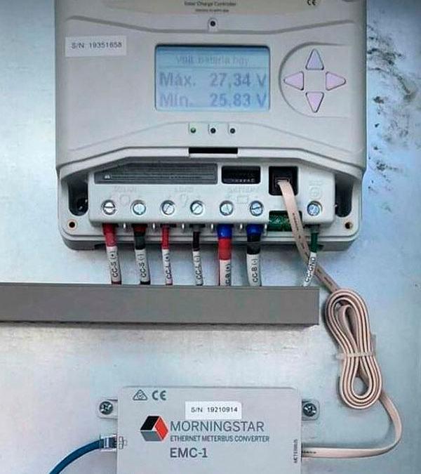 Controlador de carga con monitoreo en línea, dónde te encuentres podrás visualizar el estado del sistema.